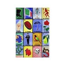 La Loteria Rectangle Magnet