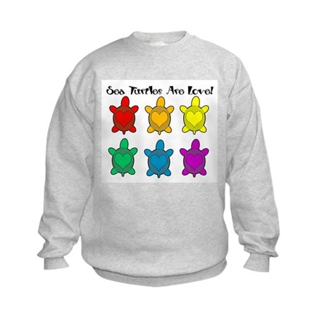 Sea Turtles are Love Kids Sweatshirt