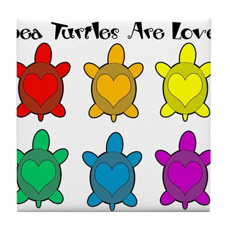 Sea Turtles are Love Tile Coaster