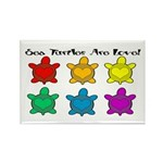 Sea Turtles are Love Rectangle Magnet (100 pack)