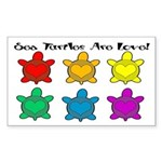 Sea Turtles are Love Rectangle Sticker
