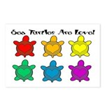 Sea Turtles are Love Postcards (Package of 8)