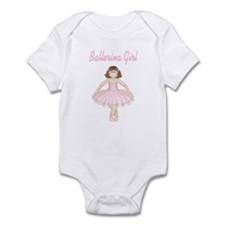 Brunette Ballerina Girl Infant Bodysuit