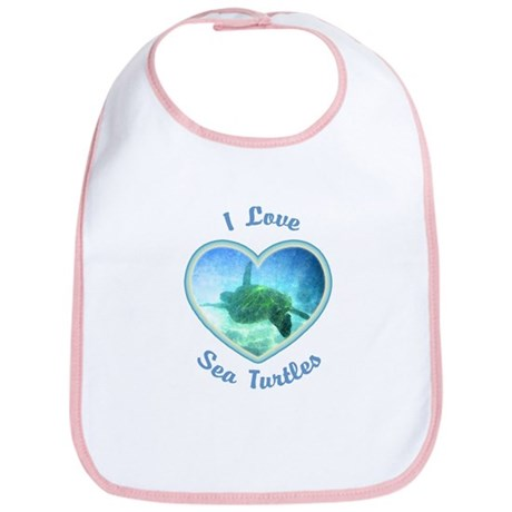 I Love Sea Turtles Bib