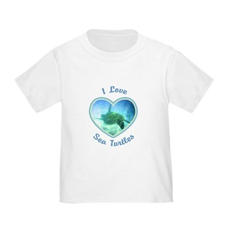 I Love Sea Turtles Toddler T-Shirt