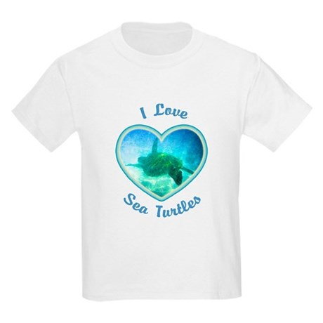 I Love Sea Turtles Kids Light T-Shirt