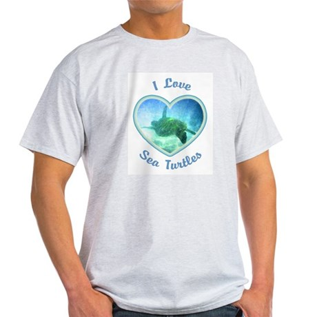 I Love Sea Turtles Light T-Shirt