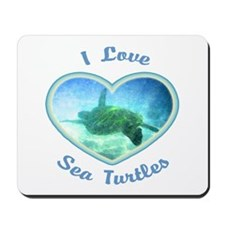I Love Sea Turtles Mousepad