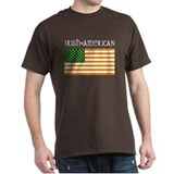 Irish-American Flag Black T-Shirt