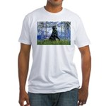 Lilies / Flat Coated Retrieve Fitted T-Shirt
