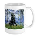 Lilies / Flat Coated Retrieve Large Mug