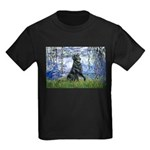 Lilies / Flat Coated Retrieve Kids Dark T-Shirt