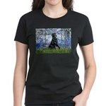 Lilies / Flat Coated Retrieve Women's Dark T-Shirt