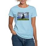 Lilies / Flat Coated Retrieve Women's Light T-Shir
