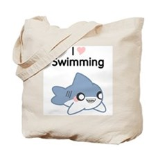 I Love Swimming Shark Tote Bag