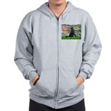 Lilies / Flat Coated Retrieve Zip Hoody