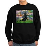 Lilies / Flat Coated Retrieve Sweatshirt (dark)