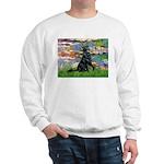 Lilies / Flat Coated Retrieve Sweatshirt