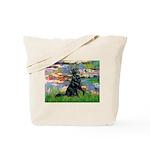Lilies / Flat Coated Retrieve Tote Bag