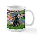 Lilies / Flat Coated Retrieve Mug