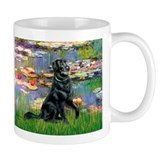 Lilies / Flat Coated Retrieve Small Mugs