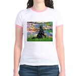 Lilies / Flat Coated Retrieve Jr. Ringer T-Shirt