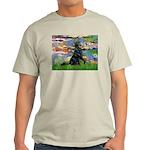 Lilies / Flat Coated Retrieve Light T-Shirt