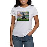Lilies / Flat Coated Retrieve Women's T-Shirt