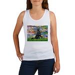 Lilies / Flat Coated Retrieve Women's Tank Top