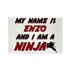 my name is enzo and i am a ninja Rectangle Magnet
