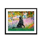 Flat Coated Retriever 2 Framed Panel Print
