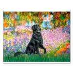 Flat Coated Retriever 2 Small Poster