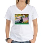 Flat Coated Retriever 2 Women's V-Neck T-Shirt