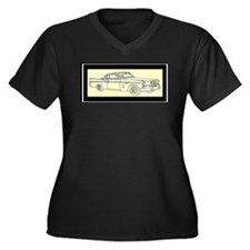 """1956 Packard Hawk?"" Women's Plus Size V-Neck Dark"
