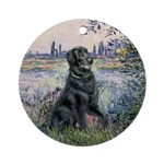 Flat Coated Retriever 2 Ornament (Round)