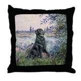 Flat Coated Retriever 2 Throw Pillow