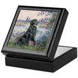Flat Coated Retriever 2 Keepsake Box