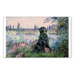Flat Coated Retriever 2 Sticker (Rectangle 10 pk)