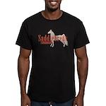 Saddlebred Horse Men's Fitted T-Shirt (dark)