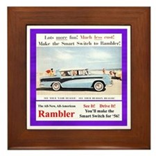 """1956 Rambler Ad"" Framed Tile"