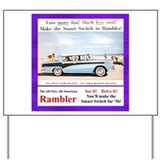 """1956 Rambler Ad"" Yard Sign"