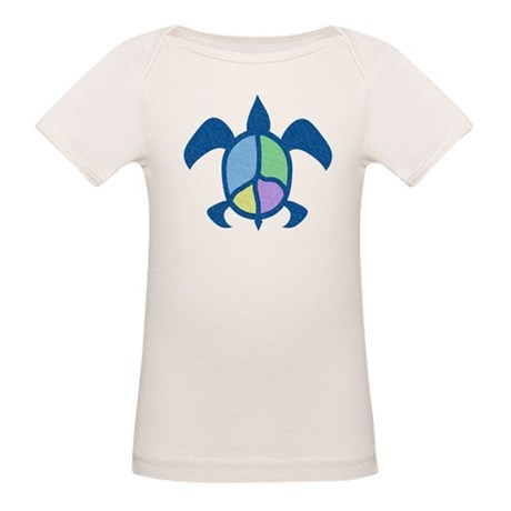 Peace Sea Turtle Organic Baby T-Shirt