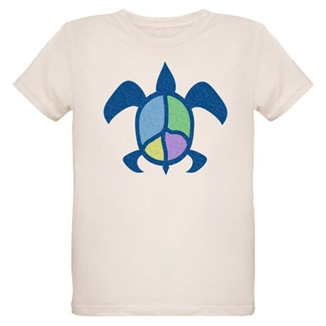 Peace Sea Turtle Organic Kids T-Shirt