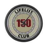 Lifelist Club - 150 Large Wall Clock