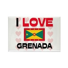 I Love Grenada Rectangle Magnet