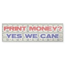 PRINT MONEY Bumper Sticker (50 pk)