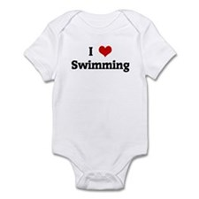 I Love Swimming Infant Bodysuit