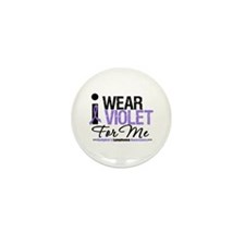 I Wear Violet For Me Mini Button (100 pack)