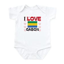 I Love Gabon Infant Bodysuit
