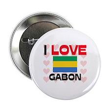 "I Love Gabon 2.25"" Button"
